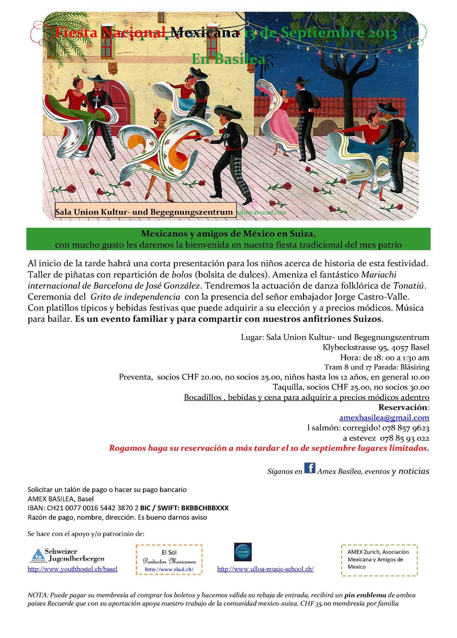 Fiesta Mexicana AMEX Basilea 2013